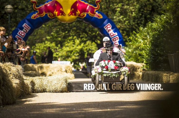 Competitor performs at the Red Bull Olabillop in Bergen, Norway on August 25th 2013
